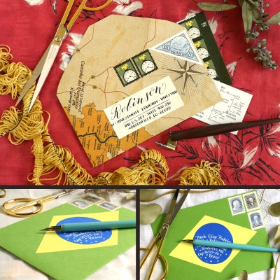 Two International Mail Art Tutorials + a Giveaway
