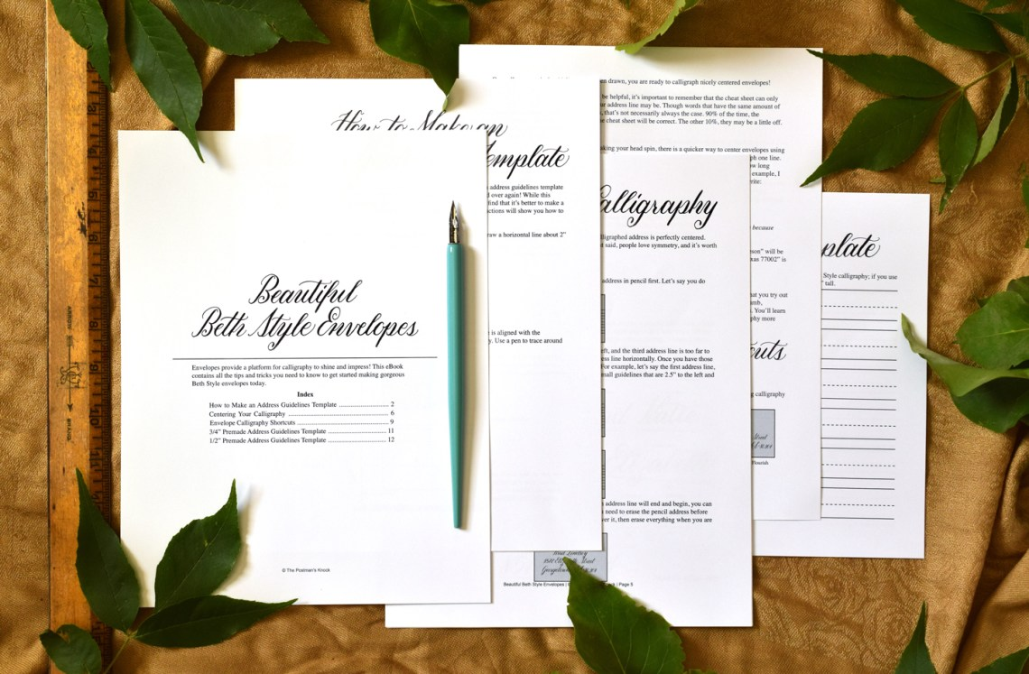 Introducing the All New Beth Style Calligraphy Worksheet | The Postman's Knock