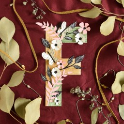 Floral Letter Simple Paper Craft Tutorial | The Postman's Knock