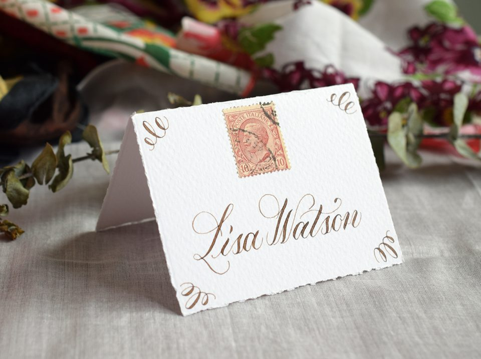 Walnut Ink Place Card | The Postman's Knock