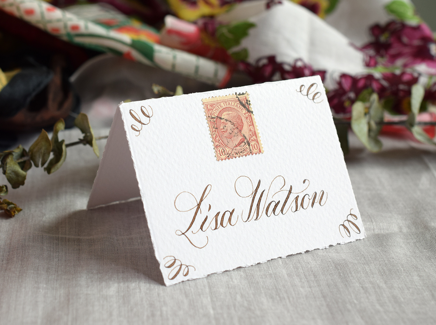 Basic Calligraphy Place Cards Tutorial   The Postman's Knock