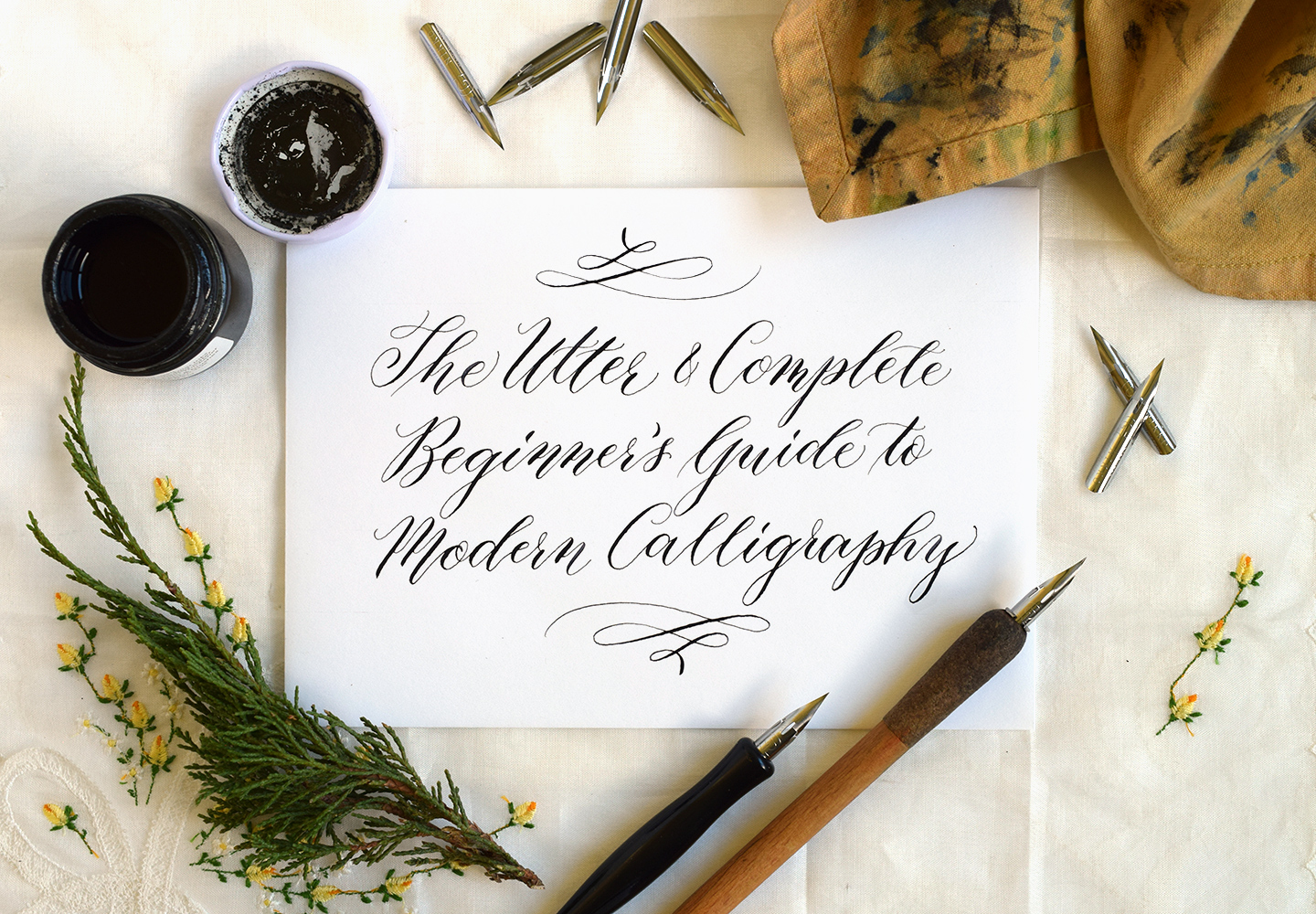 Beginner s guide to modern calligraphy the postman s