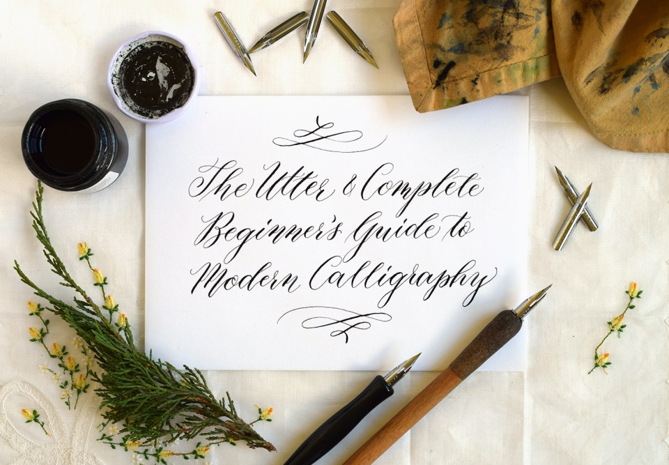 Beginners guide to modern calligraphy the postmans