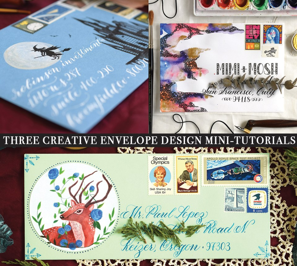 Three Creative Envelope Design Mini-Tutorials   The Postman's Knock