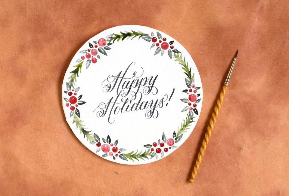 Circular DIY Christmas Card Tutorial | The Postman's Knock