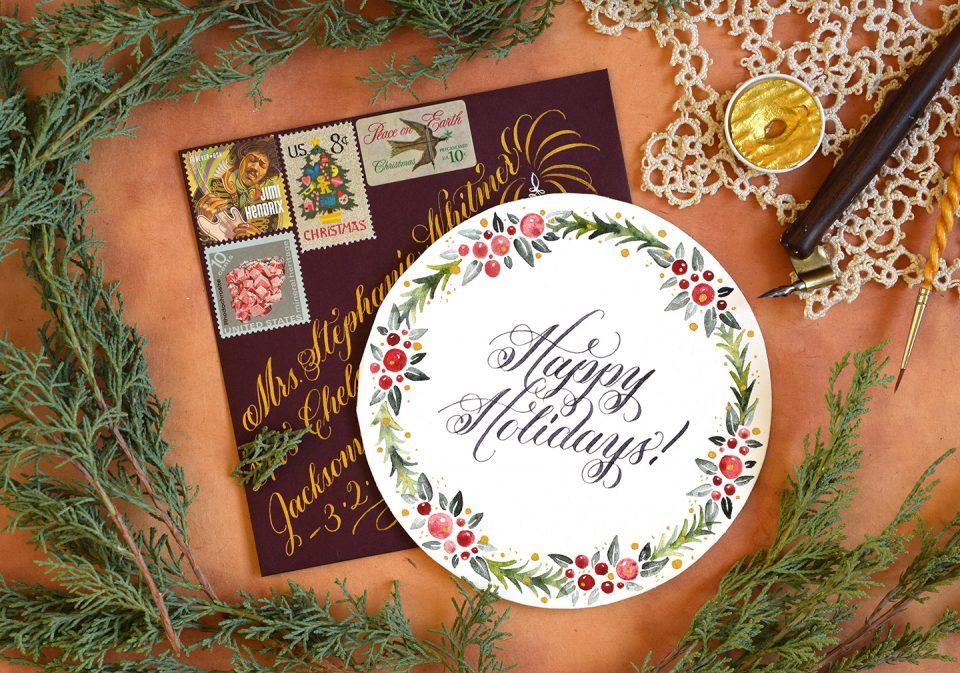 Circular DIY Christmas Card Tutorial   The Postman's Knock