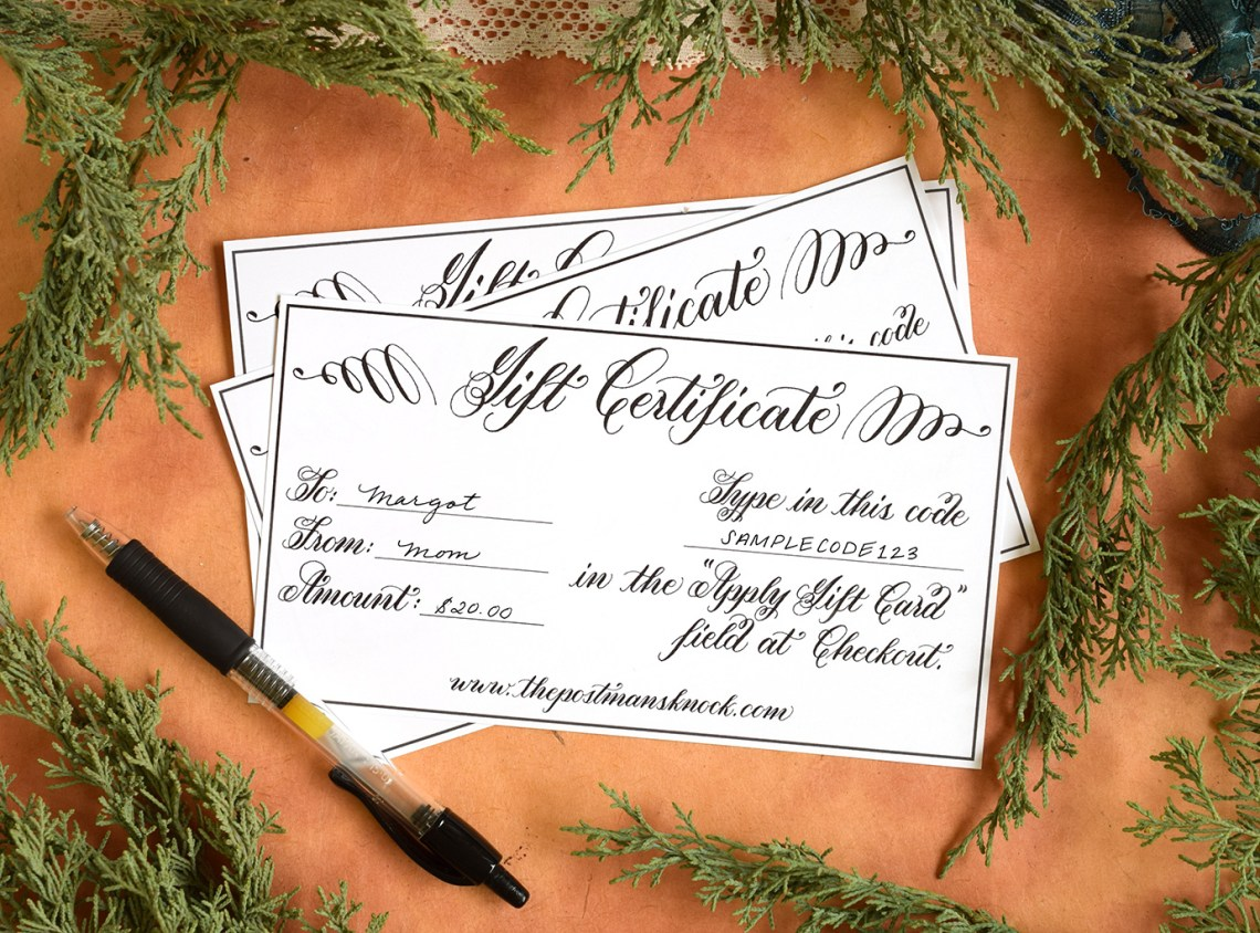 TPK Gift Certificate | The Postman's Knock