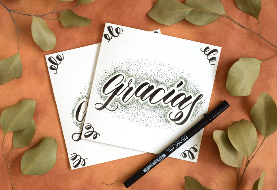 """Gracias"" Brush Pen Lettering 