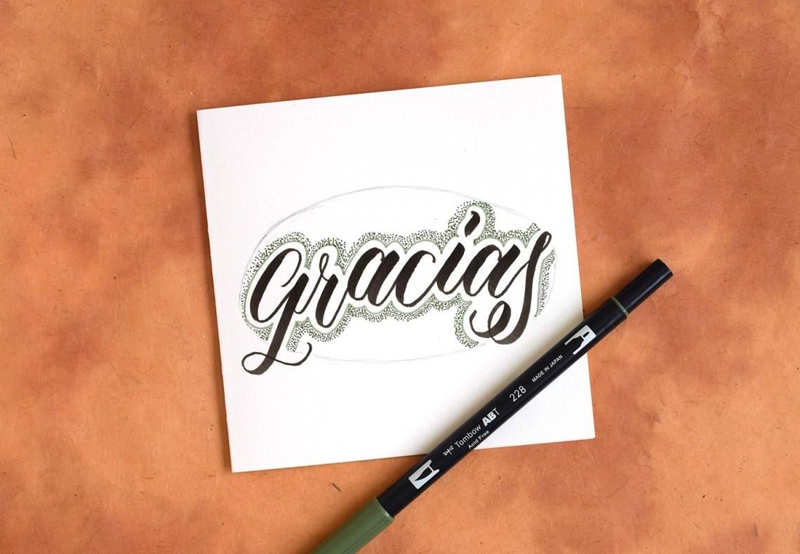 Two More Artistic Brush Pen Lettering Tutorials | The Postman's Knock