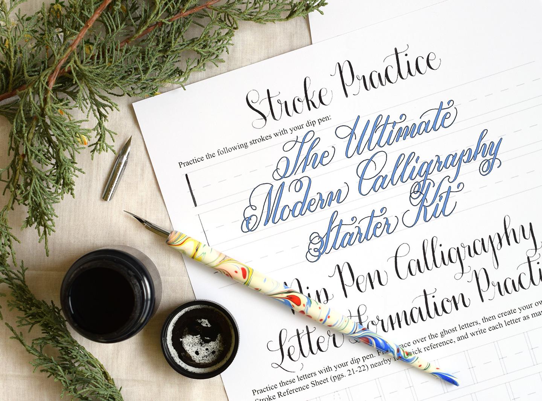 The ultimate diy modern calligraphy starter kit the postman s knock