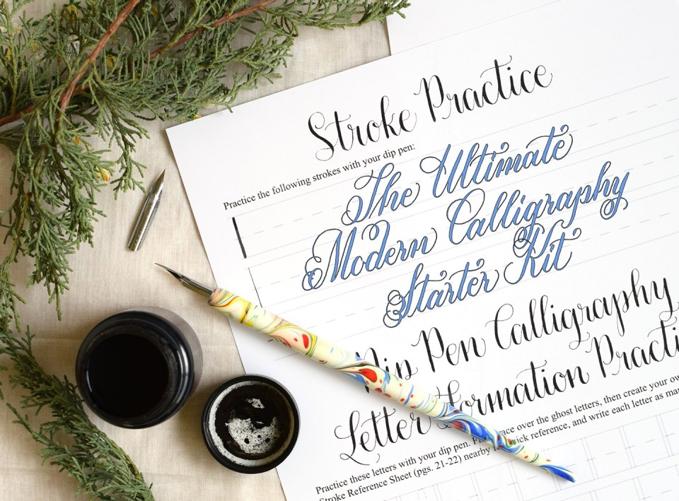 The ultimate diy modern calligraphy starter kit the Calligraphy writing set