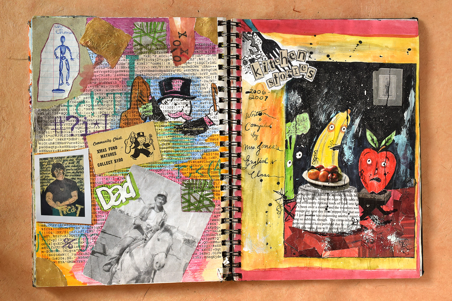 Journal Art Pages Burning Technique