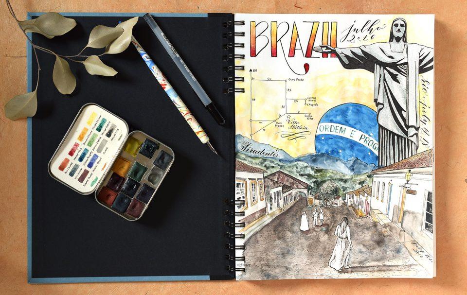 Travel Sketchbook | The Postman's Knock