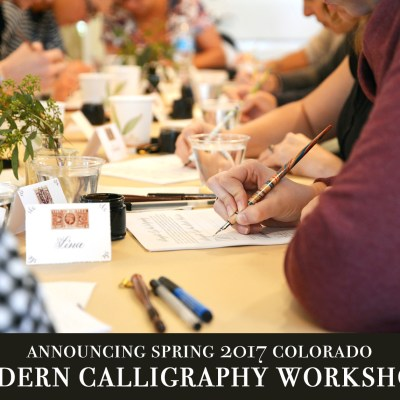 Announcing Spring 2017 Colorado Modern Calligraphy Workshops