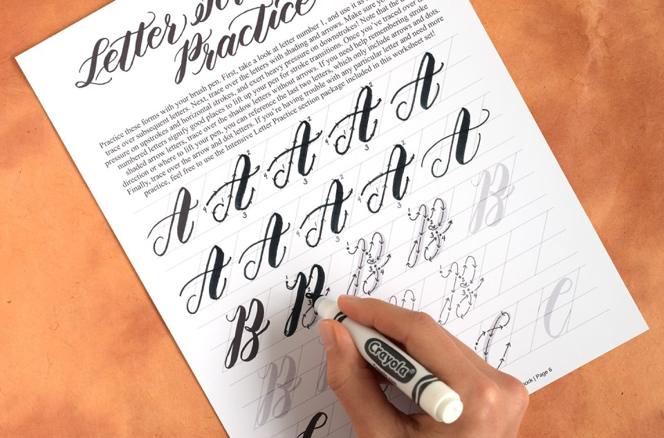 How To Write Crayola Calligraphy The Postman 39 S Knock
