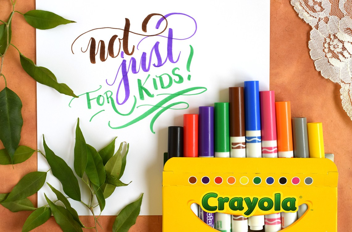 "How to Write ""Crayola"" Calligraphy 