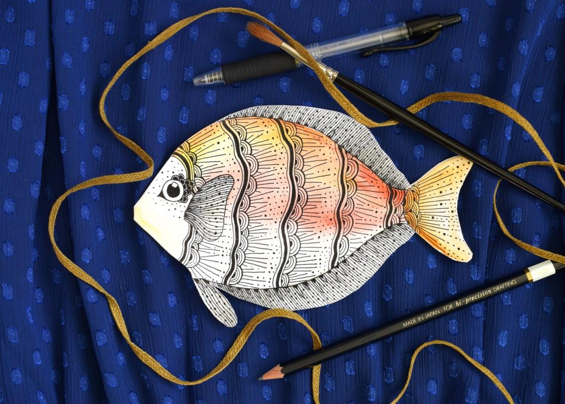 Embellished Fish DIY Card Tutorial | The Postman's Knock