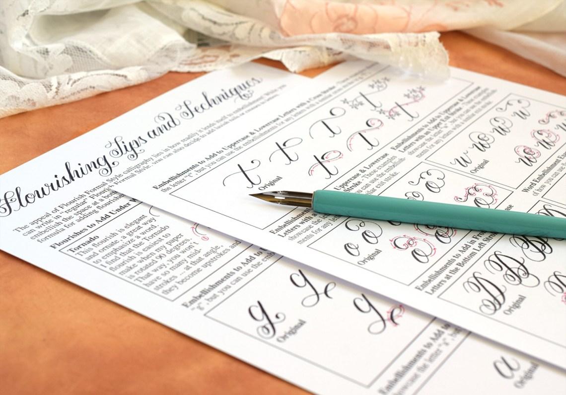 Flourish Formal Style Calligraphy Worksheet | The Postman's Knock
