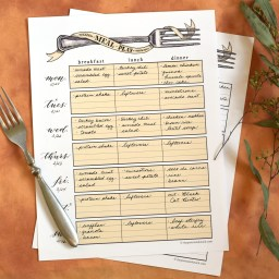 Artistic Printable Meal Planner | The Postman's Knock