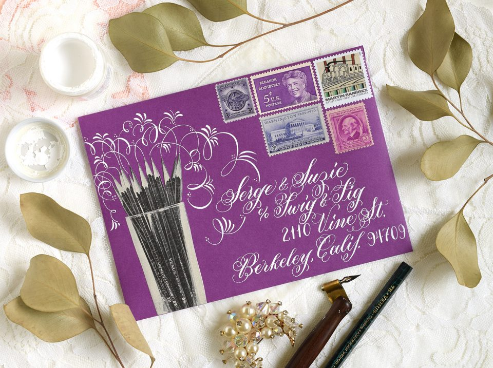 Flourished Art Supplies Envelope | The Postman's Knock