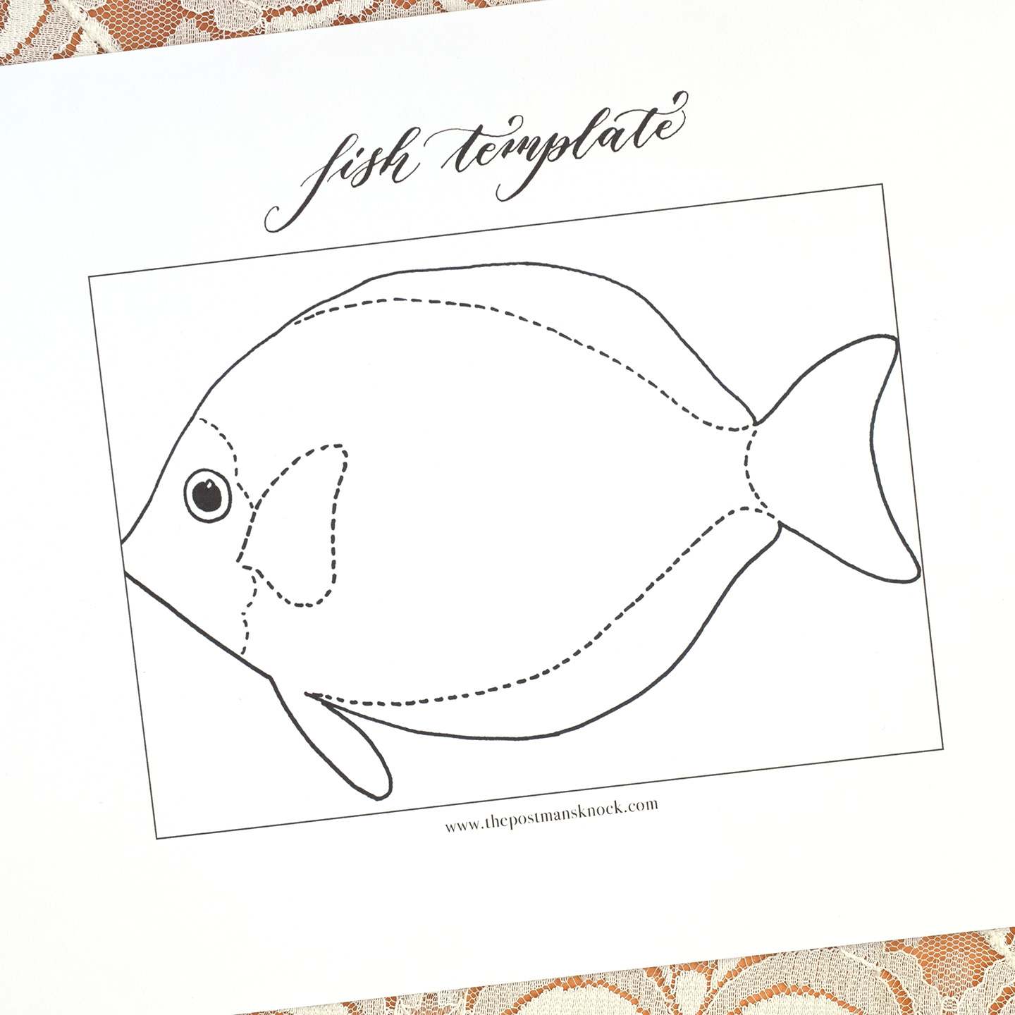 picture relating to Printable Fish Template titled Printable Fish Template