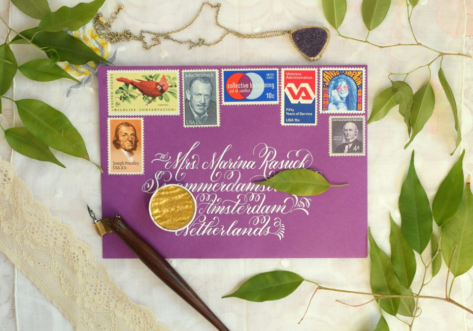 Flourish Formal White Envelope | The Postman's Knock