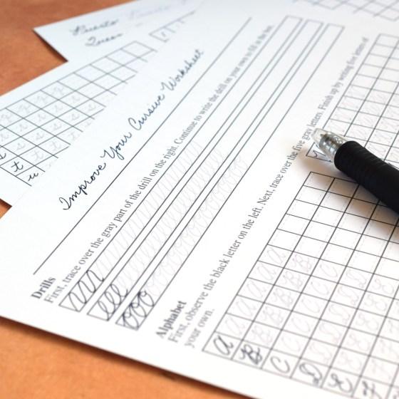 Improve Your Cursive Worksheet Set | The Postman's Knock