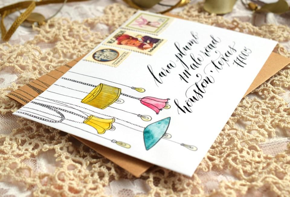 Luminous Printable Envelope Template   The Postman's Knock