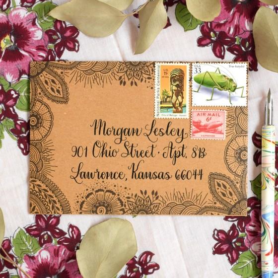 Pen & Ink Printable Envelope Templates