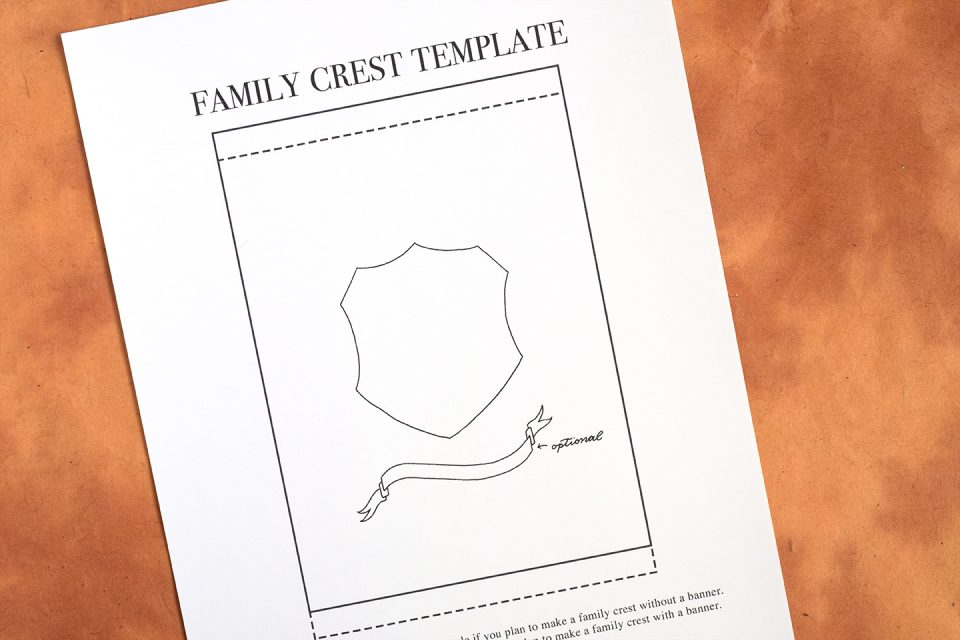 Modern Family Crest Tutorial | The Postman's Knock
