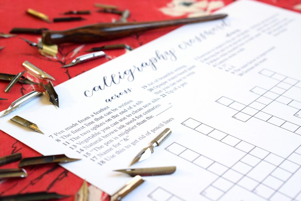 Calligraphy Crossword   The Postman's Knock