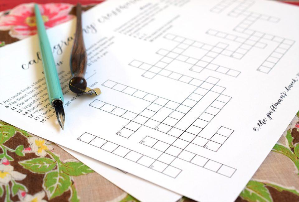 Calligraphy Crossword | The Postman's Knock