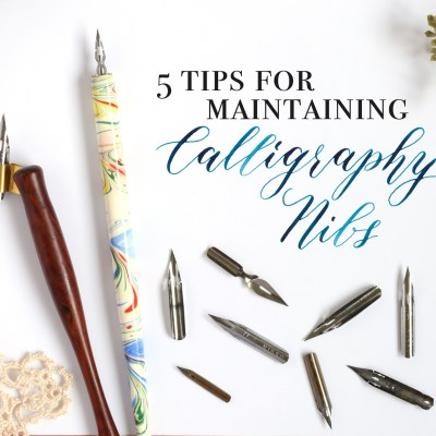 5 Tips for Maintaining Calligraphy Nibs