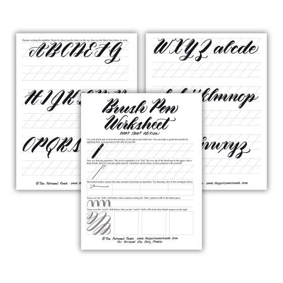Free Brush Pen Calligraphy Worksheet: Neat Slant Edition   The Postman's Knock