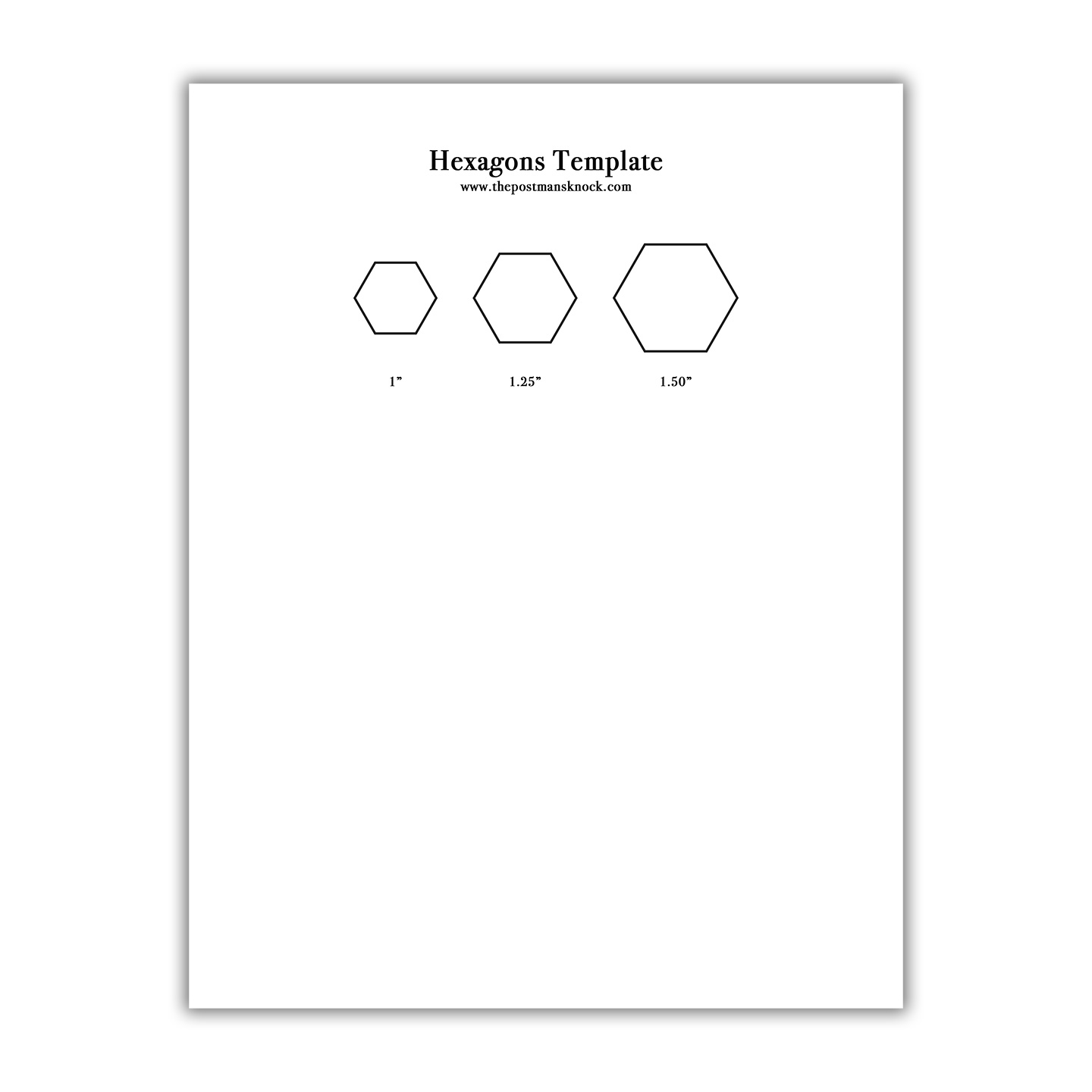 graphic relating to Printable Hexagons known as Printable Hexagons Template