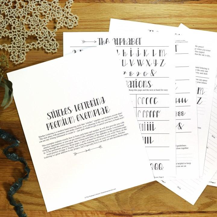 Premium Hand-Lettering Exemplar {Stitches Style}