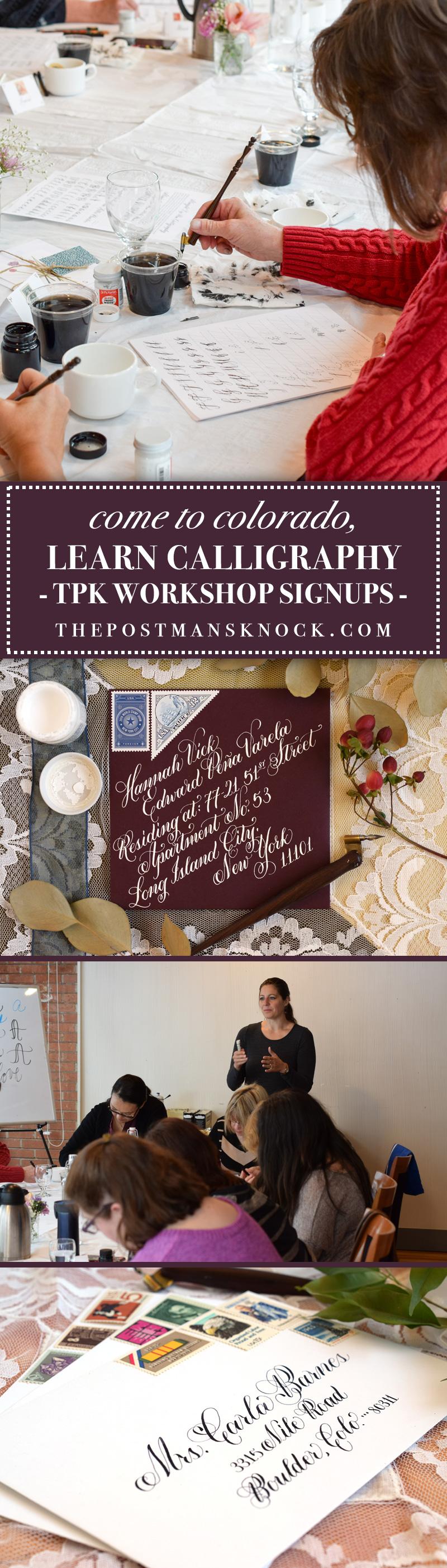TPK Boulder Modern Calligraphy Workshops