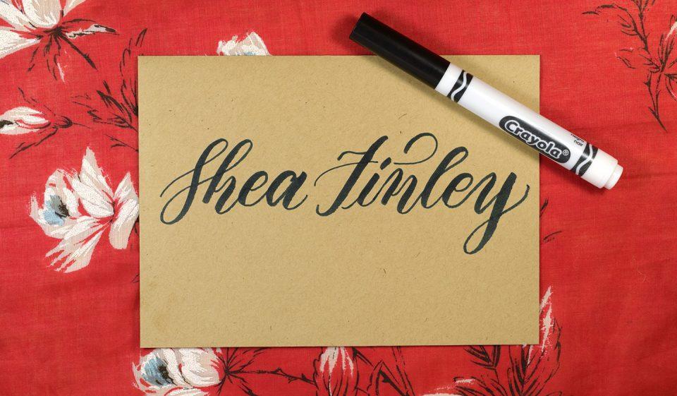 Crayola Calligraphy Vines Mail Art | The Postman's Knock