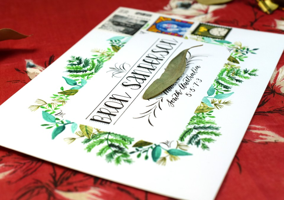 Botanical Frame Envelope Art Tutorial | The Postman's Knock