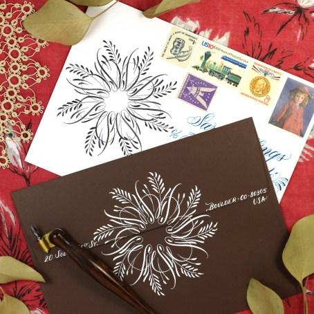 Flourished Calligraphy Medallion Tutorial   The Postman's Knock