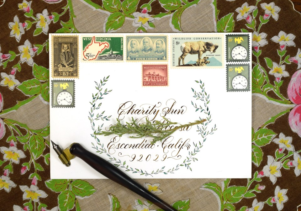 Mail Art Created with a Leonardt Principal Nib | The Postman's Knock