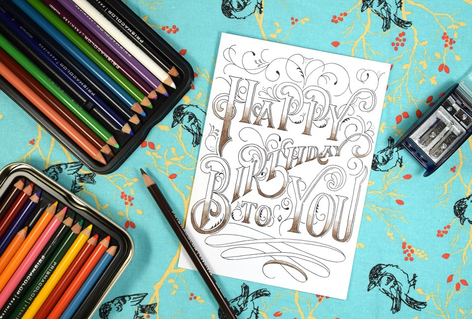 Hand-Lettered Printable Birthday Card | The Postman's Knock