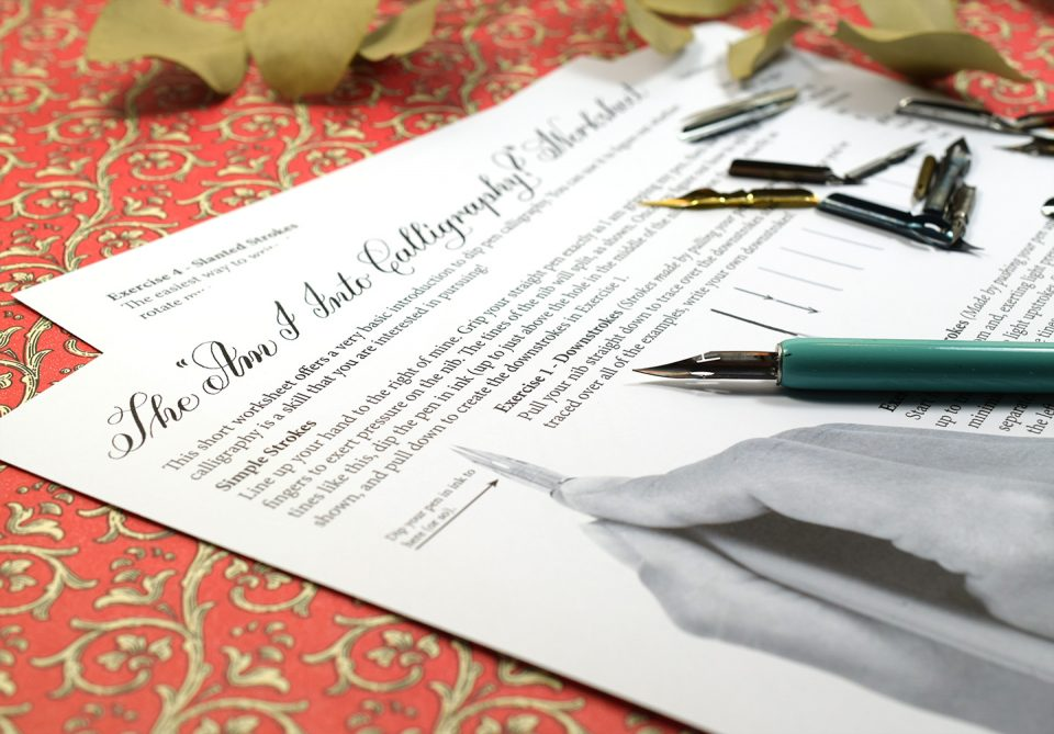 "Free ""Am I Into Calligraphy?"" Printable Worksheet 
