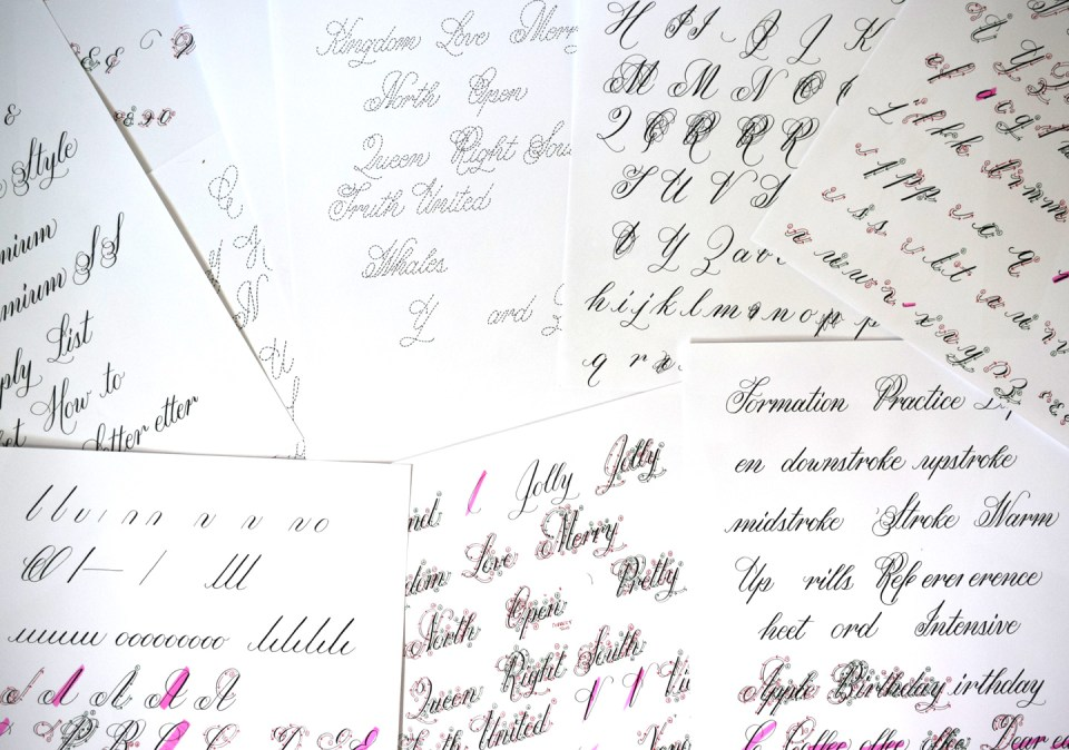 Janet Style Calligraphy Components | The Postman's Knock