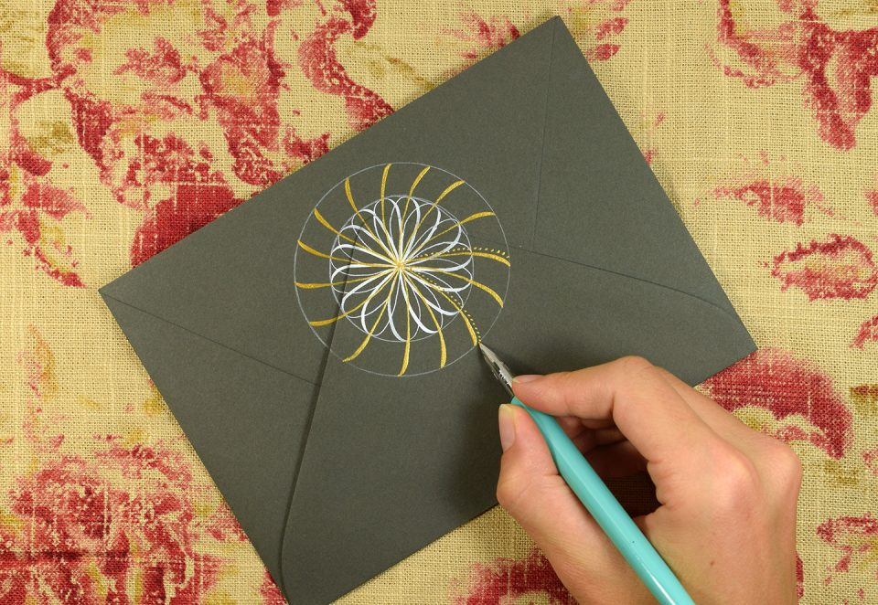 Simple Calligraphy Medallion Tutorial | The Postman's Knock