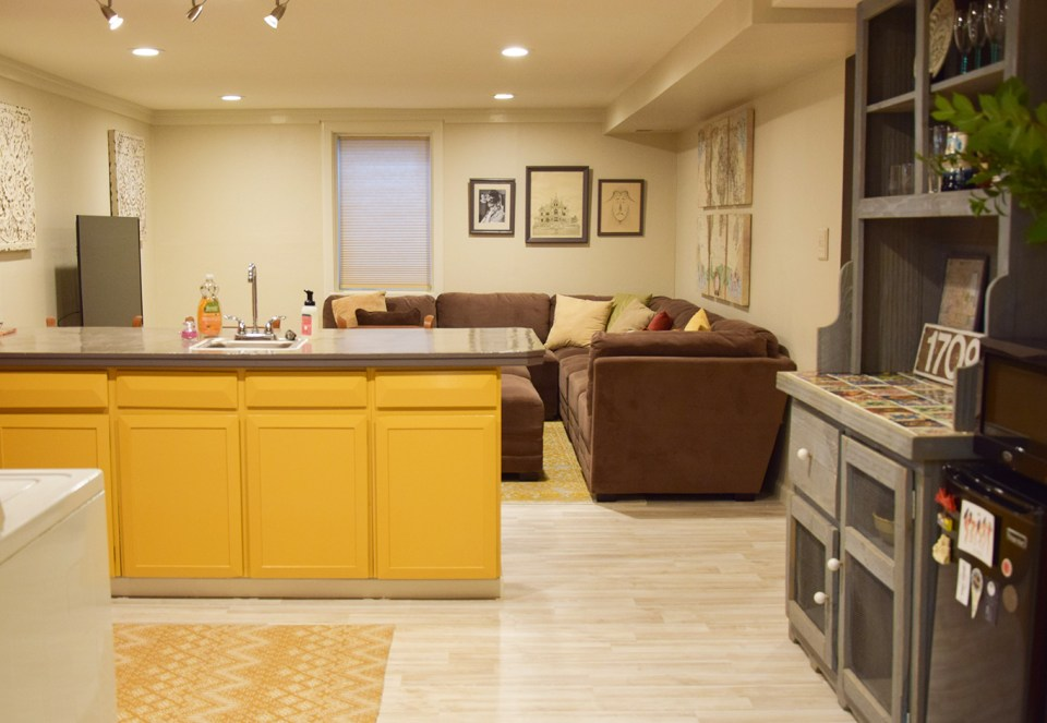 After Photo of Our Basement Apartment | The Postman's Knock