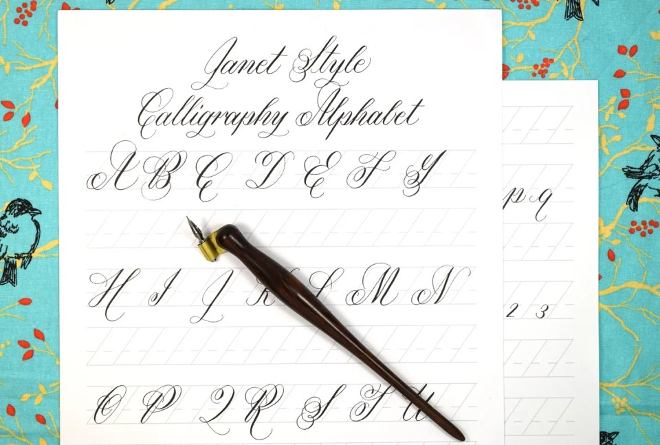 Free Janet Style Calligraphy Exemplar | The Postman's Knock