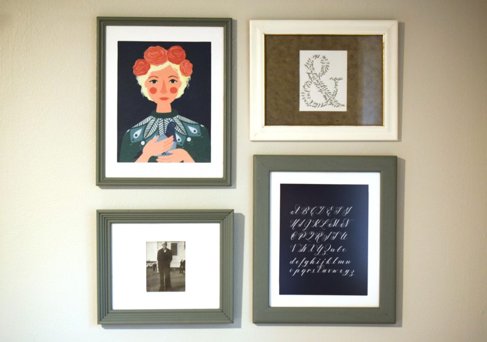 How to Frame Artwork on the Cheap | The Postman's Knock