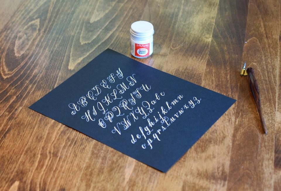 Calligraphy on Dark Paper | The Postman's Knock