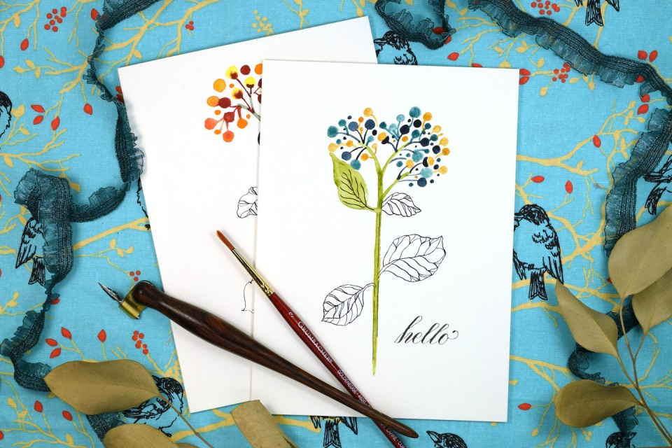 "Floral Sketch ""Just Because"" Card Tutorial 
